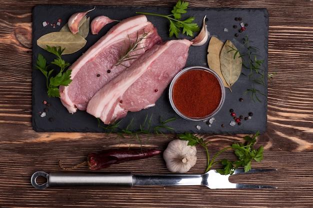 Surowe mięso wieprzowe