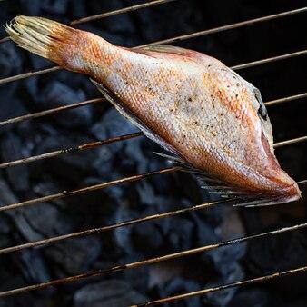 Surowe ryby owoce morza w całości bez głowy smaczne porcje porcji pescetariańskiej