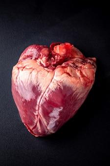 Surowe serce wołowe