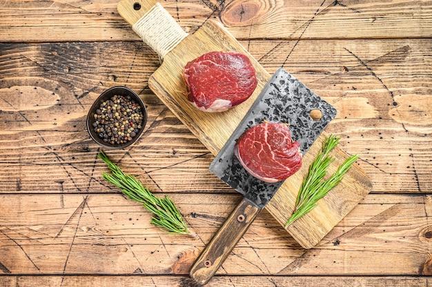 Surowe, świeże mięso marmurkowe stek filet z mignon