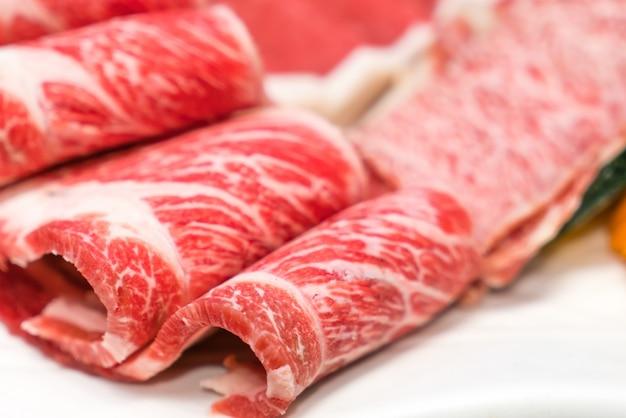 Surowe świeże mięso wołowe