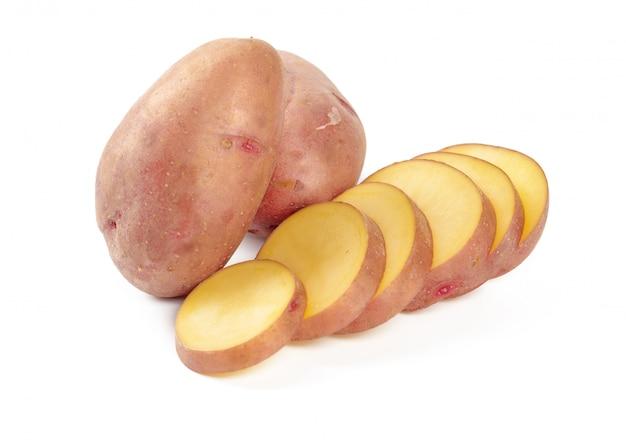 Surowe ziemniaki z plastrami