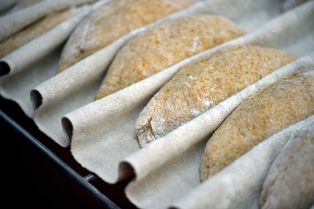 Surowy chleb pełnoziarnisty w trakcie fermentacji