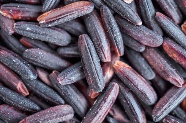 Surowy organiczny ryż ryżowy tajlandia tekstury tła
