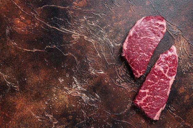 Surowy stek z denver marmurowe mięso wołowe