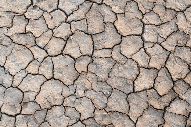 Susza pękająca ziemia tekstura tło
