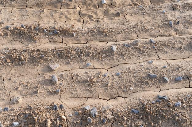 Suszę pękał zmieloną tło teksturę. rolnictwo. koncepcja suszy