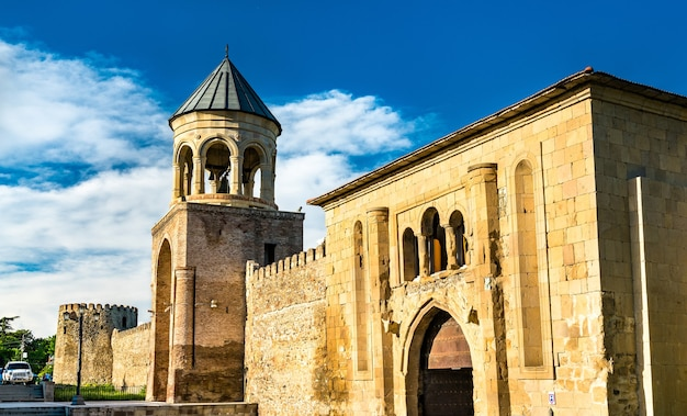Svetitskhoveli, ufortyfikowana średniowieczna katedra prawosławna w mcchecie. światowe dziedzictwo unesco w gruzji