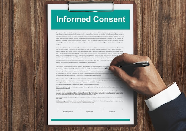 Świadoma zgoda umowa chirurgiczna umowa konsultingowa koncepcja