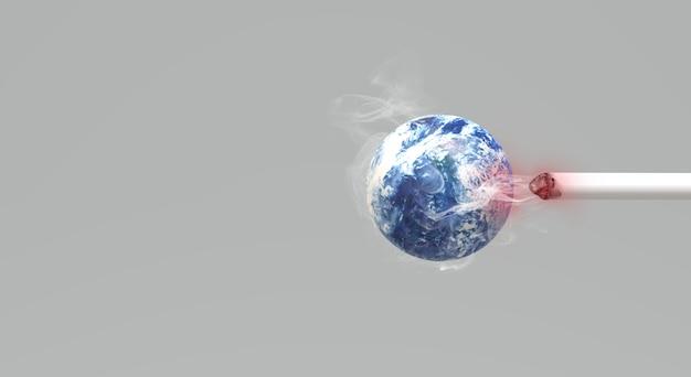 Świat renderowania 3d bez tła obrazu dnia tytoniu.