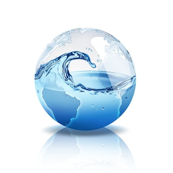 Świat z wodą w środku