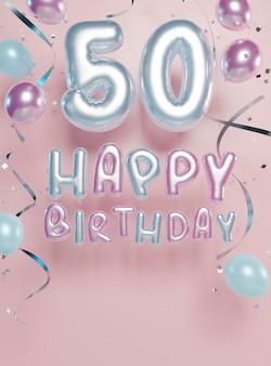 Świąteczna Aranżacja Na 50. Urodziny Z Balonami Darmowe Zdjęcia