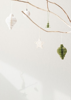 Świąteczna kartka z życzeniami świątecznymi z przestrzenią projektową