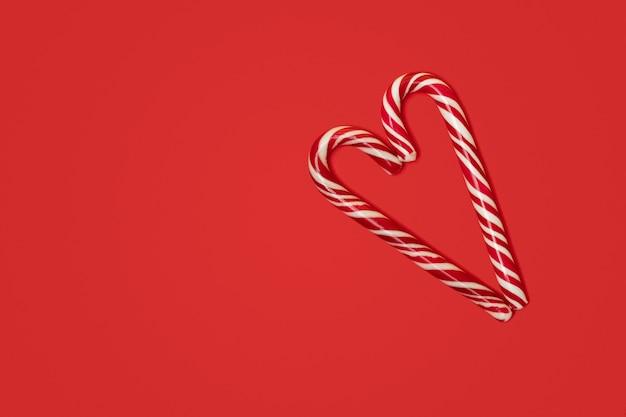 Świąteczna laska w kształcie serca