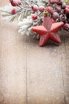 Świąteczne dekoracje na drewniane tła.