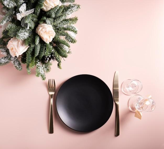 Świąteczne piękne nakrycie stołu