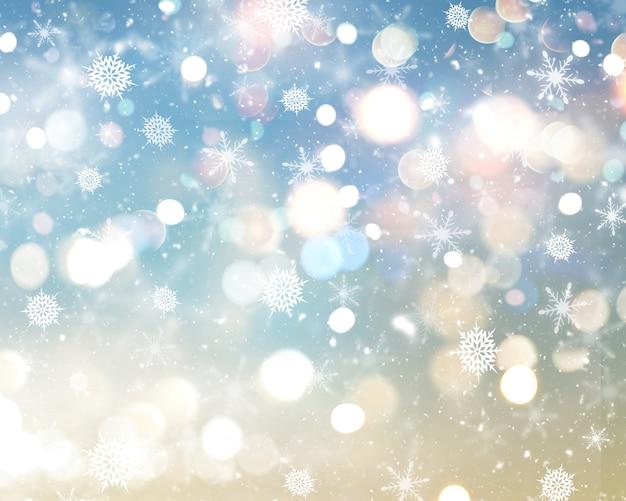 Świąteczne płatki śniegu i gwiazdy