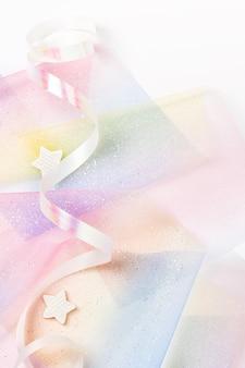 Świąteczne tło w pastelowych kolorach tęczy. impreza jednorożca.