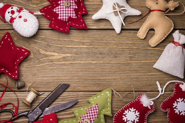 Świąteczne zabawki z własnymi rękami miejsce na tekst