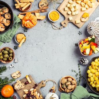 Świątecznego obiadu przyjęcia stołu tło