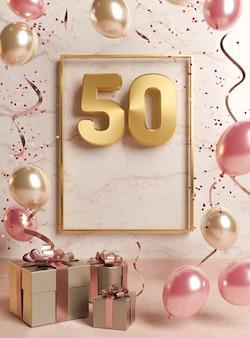 Świąteczny asortyment na 50. urodziny z balonami