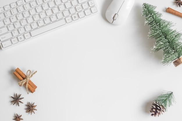 Świąteczny Pulpit Stół Biurowy Premium Zdjęcia