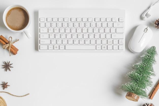 Świąteczny pulpit stół biurowy