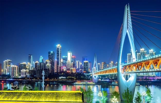 Światła miasta chongqing w chinach