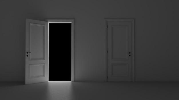 Światło wpadające przez otwarte drzwi