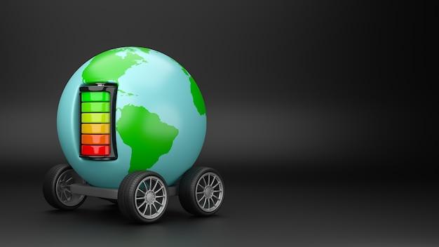 Światowa mobilność elektryczna na białym tle
