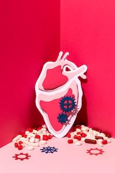 Światowy dzień serca koncepcja z medycyną