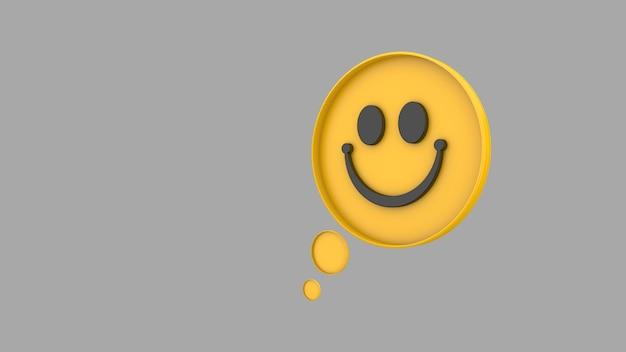 Światowy dzień uśmiechu uśmiech emoji tła 3d renderowania 3d ilustracja 3d