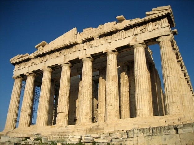 Świątynia ateny akropol kompleks parthenon