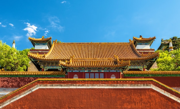 Świątynia czterech wielkich regionów w pałacu letnim w pekinie, chiny