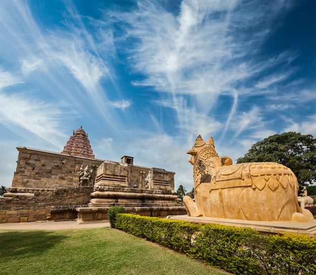 Świątynia gangai konda cholapuram. tamil nadu, indie
