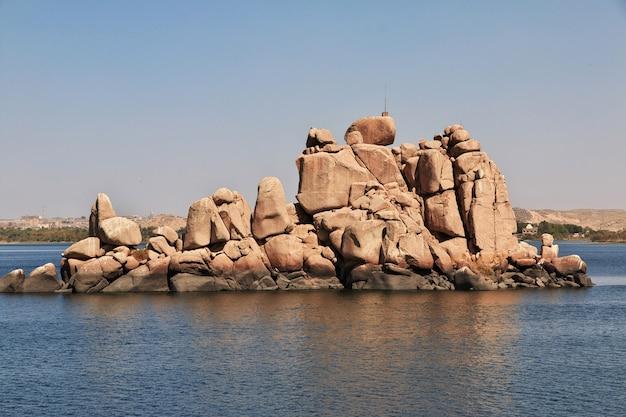 Świątynia izydy na wyspie philae w egipcie