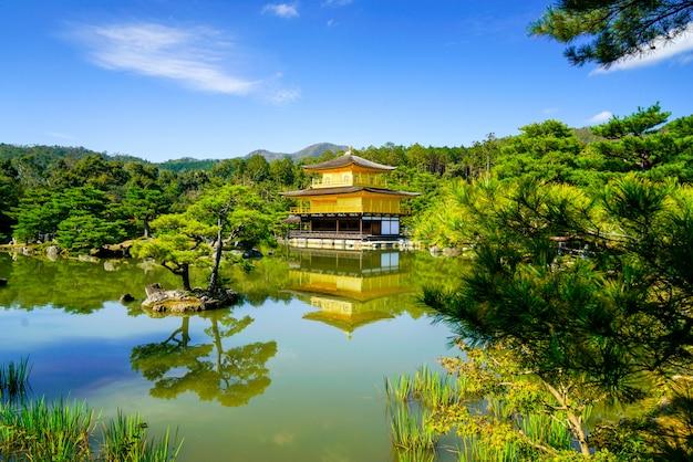 Świątynia kinkakuji w kioto w japonii