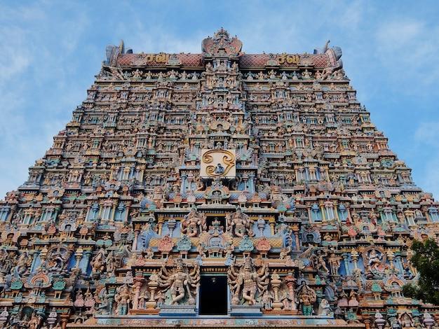 Świątynia meenakshi sundareswarar w madurai tamil nadu w indiach