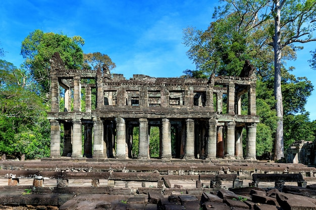Świątynia preah khan, angkor wat, kambodża.