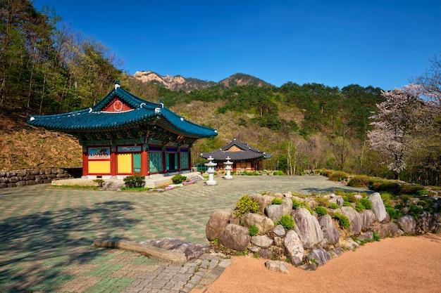 Świątynia sinheungsa w seoraksan national park, soraksan, korea południowa