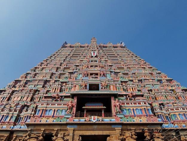 Świątynia srirama puram w srirangam tiruchirappalli w indiach