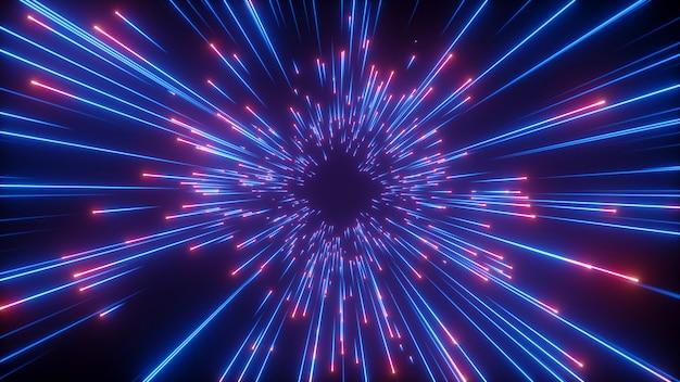 Świecące linie, wielki wybuch