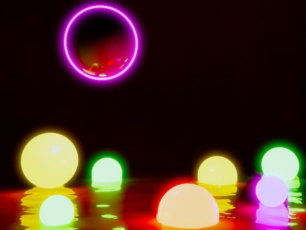 Świecące światło kuli