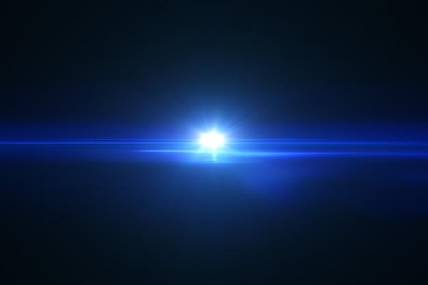 Świecący efekt podświetlenia na soczewce obiektywu