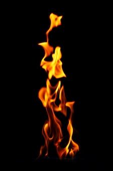 Świecący płomień ognia
