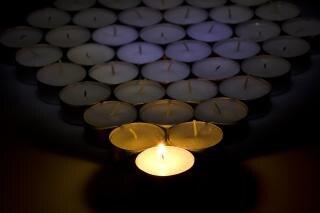 Świece, grupy, ogień