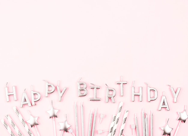Świeczki urodzinowe płaskie świeckich z miejsca na kopiowanie