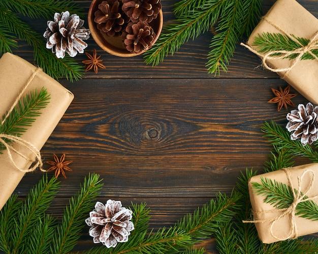 Święta bożego narodzenia i szczęśliwego nowego roku zero odpadów tło.