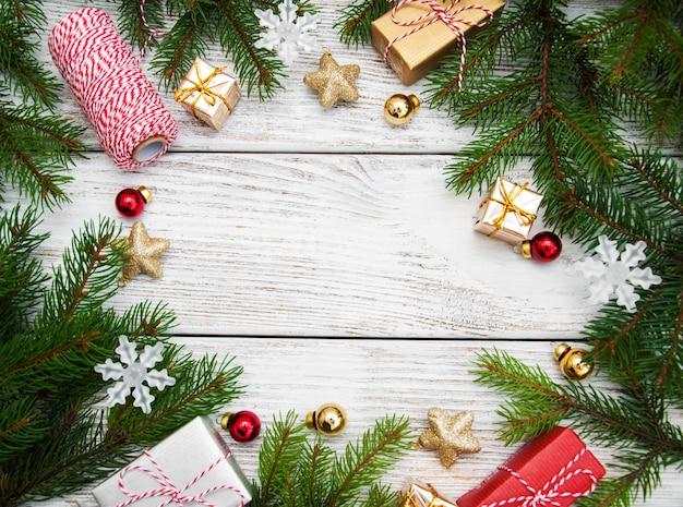 Święta bożego narodzenia rama tło