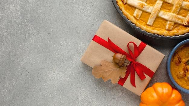 Święto dziękczynienia ciasto z dyni z miejsca na kopię